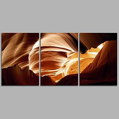 Ręcznie malowane Streszczenie Poziomy panoramiczny, Nowoczesny Brezentowy Hang-Malowane obraz olejny Dekoracja domowa Trzy panele