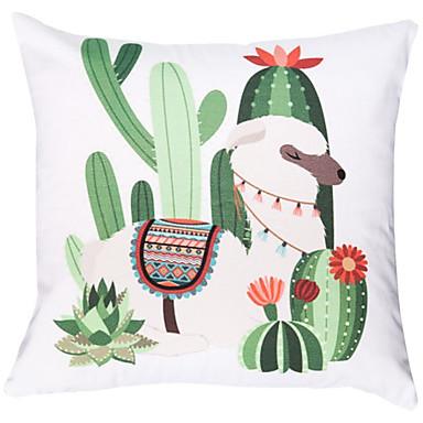 Baumwolle und Leinen gedruckt quadratischen Kissenbezug Auto Kissen Sets Kaktus Mittagspause Leinen Kissenbezüge