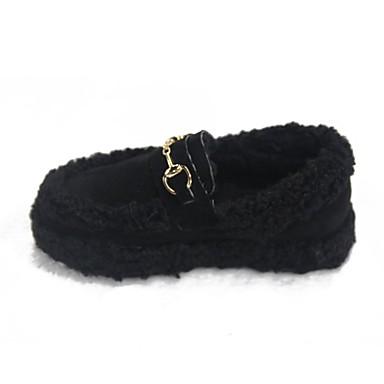Damen Schuhe PU Winter Komfort Loafers & Slip-Ons Runde Zehe für Normal Schwarz Khaki