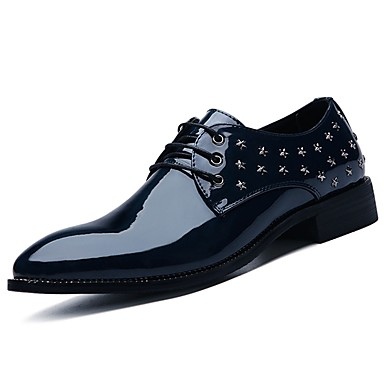 Men's PU(Polyurethane) Spring / / Fall Comfort Oxfords Black / / Royal Blue / Burgundy 7813ce