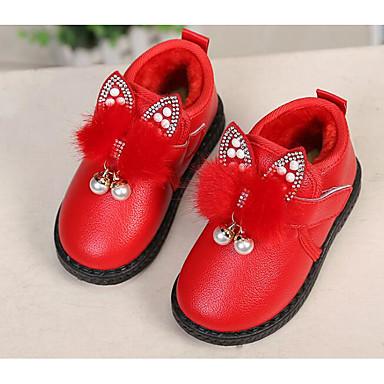 Mädchen Schuhe PU Herbst Winter Komfort Schneestiefel Stiefel Für Normal Rot Rosa