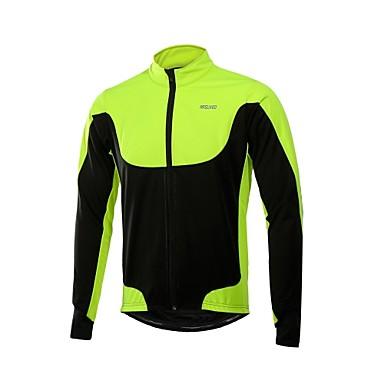 Arsuxeo Homme Veste Velo Cyclisme Vélo Anorak Veste Polaires Hiver Coupe Vent Des sports Polyester Toison Hiver Rouge / Vert / Bleu Vélo Route Vêtement Tenue Confortable Tenues de Cyclisme