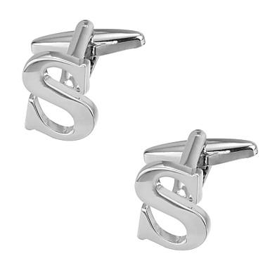 voordelige Herensieraden-Manchetknopen Alfabetvorm Romantisch Broche Sieraden Zilver Voor mielitietty