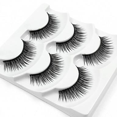 Rzęsa Sztuczne rzęsy 3 pcs Najwyższa jakość Codzienne Włókno Pełne rzęsy Naturalna długość - Makijaż Kosmetyk Akcesoria do czesania