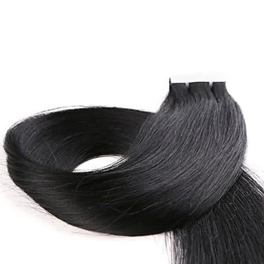 Neitsi Tape In شعر إنساني إمتداد مستقيم شعر مستعار طبيعي وصلات شعر طبيعي شعر هندي 1pack نسائي بني غامق