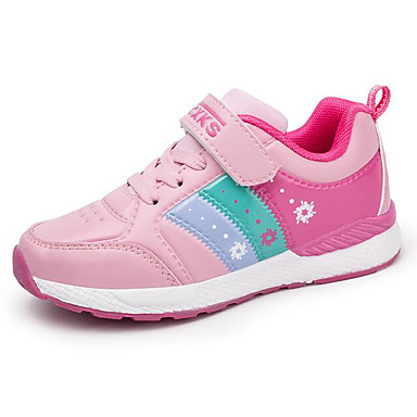 Mädchen Schuhe Künstliche Mikrofaser Polyurethan Winter Herbst Komfort Sneakers für Normal Schwarz Rosa