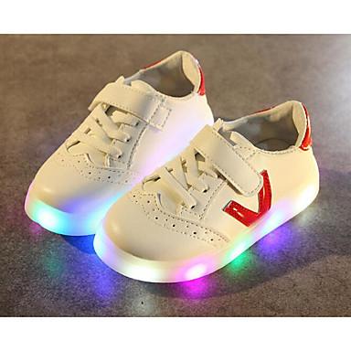 Mädchen Schuhe Künstliche Mikrofaser Polyurethan Winter Herbst Komfort Sneakers für Normal Schwarz Rot Blau