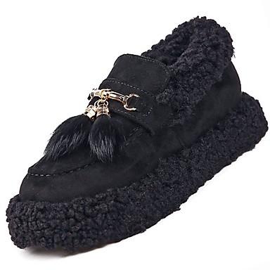 Damskie Obuwie Polar Zima Comfort Mokasyny i pantofle Null Płaski obcas Okrągły Toe Null / na Na wolnym powietrzu Black Dark Brown