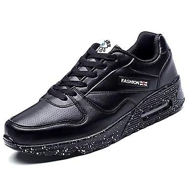 Herren Schuhe Künstliche Mikrofaser Polyurethan PU Frühling Herbst Komfort Sportschuhe Rennen Schnürsenkel Für Sportlich Normal Weiß