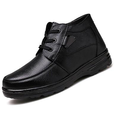 Męskie Buty Nappa Leather Skóra Wiosna Jesień Comfort Buciki na Casual Black Brown