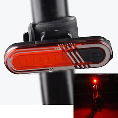 Luz Trasera para Bicicleta / luces de seguridad / Luz Trasera LED Ciclismo Recargable Batería de litio USB Rojo Ciclismo / Al Aire Libre