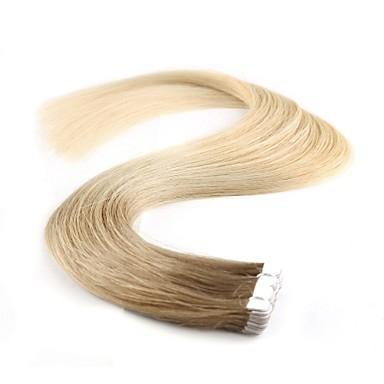 voordelige Extensions van echt haar-Neitsi Tape-in Extensions van echt haar Klassiek Echt haar Extentions van mensenhaar 1pack Dames Beige Blonde / Bleached Blonde