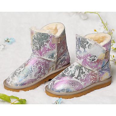 Mädchen Schuhe Leder Winter Herbst Komfort Stiefel Für Normal Gold Schwarz Violett Rosa