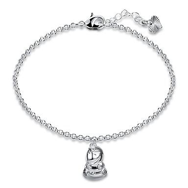 Damen Ketten- & Glieder-Armbänder Armband Einfach Retro Grundlegend Hiphop Süß Elegant Kupfer versilbert Geometrische Form Schmuck Für