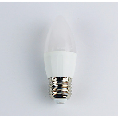 1szt 3W 225 lm E27 Żarówki LED świeczki C35 5 Diody lED SMD 3528 Ciepła biel AC 110-240V