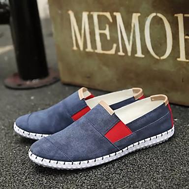 Herren Schuhe Stoff Frühling Herbst Komfort Loafers & Slip-Ons Für Normal Beige Grau Blau