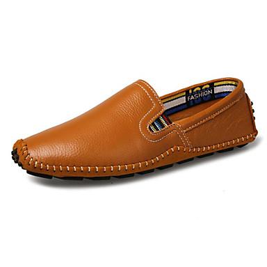 Herrn Schuhe Leder Frühling Herbst Komfort Loafers & Slip-Ons für Normal Schwarz Gelb Blau