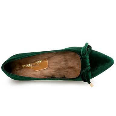 Talon Plume Automne 06407007 Confort Femme pointu Flocage à Talons Noeud Café Chaussures Chaussures Fourrure Bout Aiguille Nouveauté Hiver TPIqwI