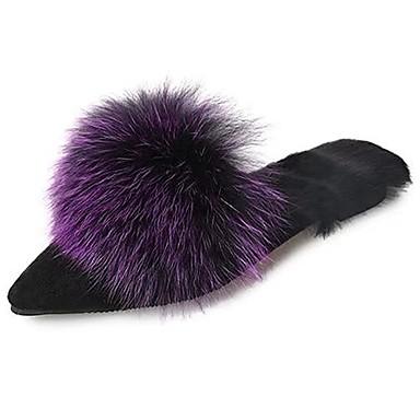 Damskie Obuwie Guma Zima Comfort Chodaki i klapki Pointed Toe na Na wolnym powietrzu Gray Purple Brown