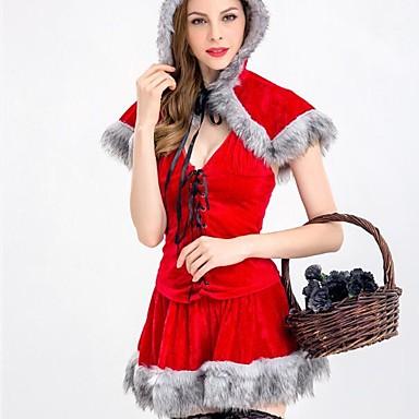 Kostiumy Św. Mikołaja Kostiumy Cosplay Damskie Boże Narodzenie Halloween Karnawał Oktoberfest Nowy Rok Festiwal/Święto Kostiumy na