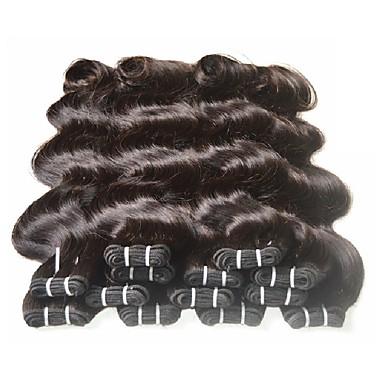 Włosy brazylijskie Falowana Włosy virgin / Włosy naturalne remy / Włosy naturalne Fale w naturalnym kolorze Kolor naturalny Ludzkie włosy wyplata Dla czarnoskórych kobiet / 100% Dziewica