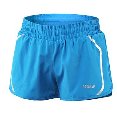 Arsuxeo Mulheres Shorts de Corrida - Preto, Azul, Rosa claro Esportes Elastano Shorts Roupas Esportivas Secagem Rápida, Materiais Leves,