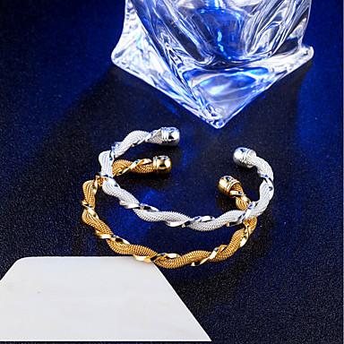 Damskie Bransoletki bangle, Bransoletki cuff - 18K Gold Plated Gold, Silver