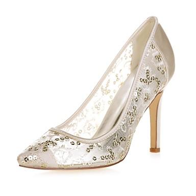 06411673 de pointu Escarpin clair Chaussures Paillettes Chaussures Bleu Aiguille mariage Talon Femme Basique Rose Bout Printemps Ivoire Eté TS7wq