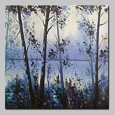 Ręcznie malowane Krajobraz Kwadrat, Rustykalny Nowoczesny Brezentowy Hang-Malowane obraz olejny Dekoracja domowa Jeden panel