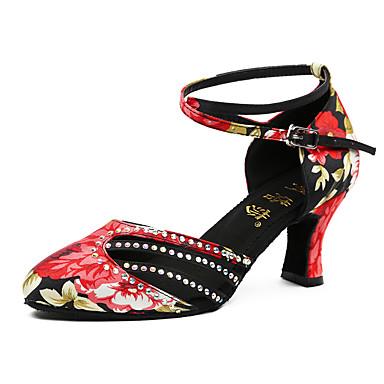 Damskie Buty do tańca nowoczesnego Derma Adidasy Szpilka Personlaizowane Buty do tańca Black / Red / Profesjonalne