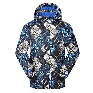 Phibee Skijacke Herrn Skifahren Warm Wasserdicht Windundurchlässig tragbar Atmungsaktivität Anti-Statisch Polyester Jacke