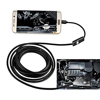 voordelige Test-, meet- & inspectieapparatuur-8mm lens usb endoscoop waterdicht ip67 inspectie borescope camera 10m hardwire nacht video slang cam voor Android pc