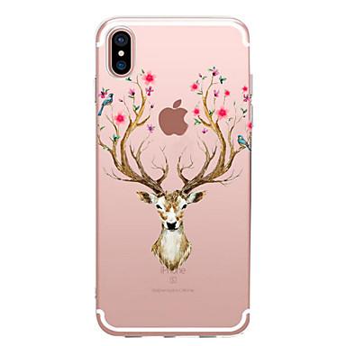 Für iPhone X iPhone 8 Hüllen Cover Transparent Muster Rückseitenabdeckung Hülle Tier Blume Weich TPU für Apple iPhone X iPhone 8 Plus