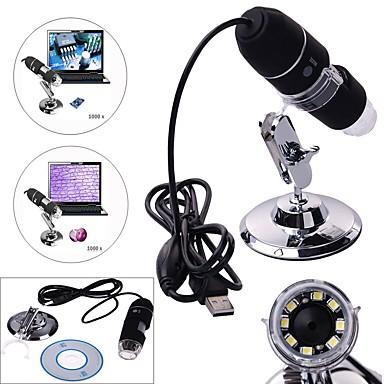 voordelige Microscopen & Endoscopen-digitale elektronische microscoop 25x-200x microscoop draagbare industriële textieltests