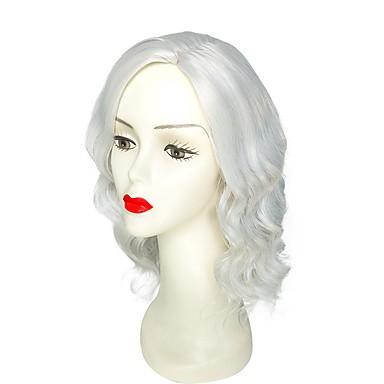 Peruki syntetyczne Falisty Fryzura cieniowana Włosy syntetyczne Naturalna linia włosów Szary Peruka Damskie Krótki cosplay peruka /