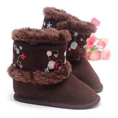 Mädchen Schuhe Baumwolle Winter Schneestiefel Stiefel für Normal Kaffee