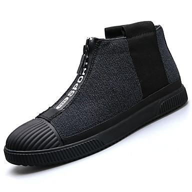Herren Schuhe PU Stoff Frühling Herbst Komfort Sneakers Für Normal Schwarz Rot Blau