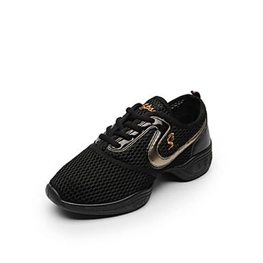 Damskie Adidasy do tańca Tiul Adidasy Łączenie Płaski obcas Personlaizowane Buty do tańca Różowy / Czarny / Czarny / Złoty