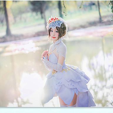 Zainspirowany przez King of Glory Xiaoqiao Wideo Gra Kostiumy cosplay Garnitury cosplay Nadruk Spódnica / Rękawiczki / Skarpety Kostiumy na Halloween