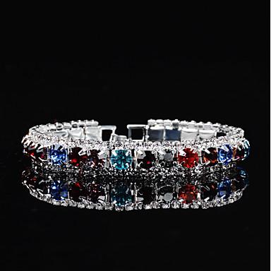Damskie Cyrkonia, Rhinestone Bransoletki i łańcuszki na rękę - Kryształ górski Rainbow / Ślub