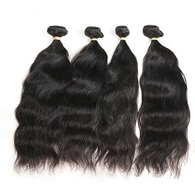 4 zestawy Włosy peruwiańskie Naturalne fale Włosy naturalne remy Fale w naturalnym kolorze Ludzkie włosy wyplata Ludzkich włosów rozszerzeniach