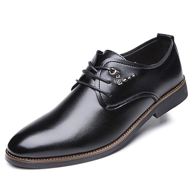 Men's Spring Formal Shoes PU(Polyurethane) Spring Men's / Fall Oxfords Black 1cf4ab