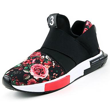 Męskie Buty PU Wiosna Jesień Comfort Mokasyny i pantofle na Na wolnym powietrzu Black Gray Czerwony