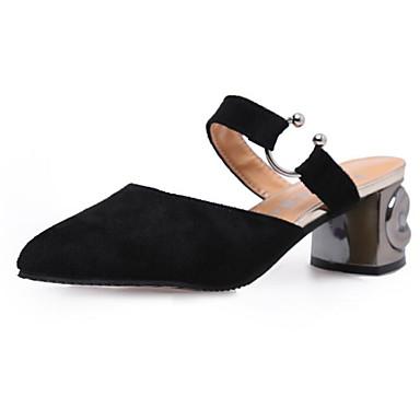 Mujer Otoño pantuflas Amarillo Negro Nobuck Zapatos Zuecos Primavera 06380642 Beige Cuero Confort y 8IrIqH