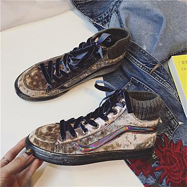 Naiset Kengät PU Kevät Kesä Comfort Club Kengät Välkkyvät kengät Sandaalit Paksu korko Avokkaat Soljilla Käyttötarkoitus Kausaliteetti
