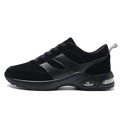 Herren Schuhe PU Alle Jahreszeiten Komfort Leuchtende Sohlen Sportschuhe Walking Für Sportlich Schwarz Grau Khaki