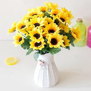 Sztuczne Kwiaty 2 Gałąź Pasterski Styl Hortensje Bukiety na stół