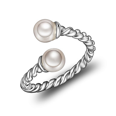 Damskie mankiet Pierścień - Perłowy, Srebrny Koreański, Modny Regulacja Silver Na Codzienny