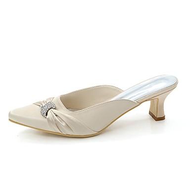 Escarpin Satin Ivoire Femme Heel mariage Basique Eté Strass carré Block Chaussures Bleu de Champagne Printemps Bout 06398414 Chaussures wIwaqg5x