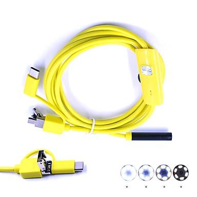 3 w 1 usb endoskop camera 7mm obiektyw 2m długość inspekcja borescop wodoodporna ip67 wąż krzywka dla systemu Android Windows